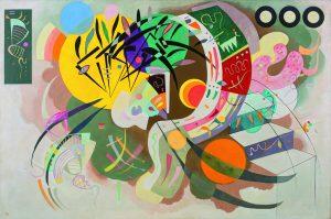 Da Kandinsky a Pollock. Vasily Kandinsky. Curva dominante, 1936. Olio su tela. Museo Solomon R. Guggenheim. Solomon R. Guggenheim Founding Collection, New York / Ph. Kristopher McKay