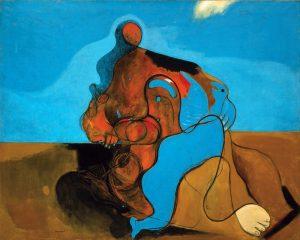 Max Ernst. Il bacio, 1927. Olio su tela. Venezia, Collezione Peggy Guggenheim /Ph. David Heald © Max Ernst, by SIAE 2016