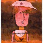 Da Kandinsky a Pollock. Paul Klee. Ritratto di Frau P., 1924. Disegno ad acquerello e ricalco a olio su carta montata su tavola, cm 42,5 x 31. Venezia, Collezione Peggy Guggenheim. Foto di Carmelo Guadagno