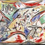 Da Kandinsky a Pollock. Jackson Pollock. Bufalo d'acqua, 1946, Olio su tela, cm 76,5 X 213. Amsterdam, Stedelijk Museum. © Pollock Krasner Foundation / Artists Rights Society, Ars, New York, By Siae 2016
