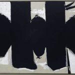 Da Kandinsky a Pollock. Robert Motherwell. Elegia per la Repubblica Spagnola n. 110, 1971. Acrilico, grafite e carboncino su tela, cm 208,3 x 289,6. New York, Museo Solomon R. Guggenheim. Donazione, Agnes Gund