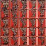 Scanavino. Le frange, 1974. Olio su tela, cm 150x150