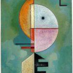 Da Kandinsky a Pollock. Vasily Kandinsky. Verso l'alto, 1929, olio su cartone, cm 70 x 49. Collezione Peggy Guggenheim, Venezia. Foto di David Heald