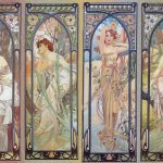 Alfons mucha. Le fasi del giorno, 1899