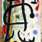 """Joan miró - Donna anatre e stella, olio su tela """"Pompier"""", 9 giugno 1965"""
