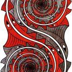 Escher a Milano. Escher. Vortici, 1957. Incisione, cm 43,8x23,5. Collezione Giudiceandrea Federico. All M.C. Escher works © 2016 The M.C. Escher Company The Netherlands. All rights reserved