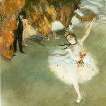 Edgar Degas. L'étoile o la danzatrice sulla scena, 1876-77. Musée d'Orsay, Parigi
