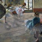 Edgar Degas. Prova di Balletto in scena, 1874. Olio su tela, cm 65x81. Musée d'Orsay, Parigi