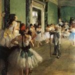 Edgar Degas. La classe di danza, 1871-1874. Olio su tela, cm 85 x 75. Musée d'Orsay, Parigi