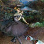 Edgar Degas. Ballerina con bouquets, 1890-1900. Olio su tela. cm 180,3×152,4. Credit: Regalo di Walter P. Chrysler, Jr., in memorria di Della Viola Forker Chrysler