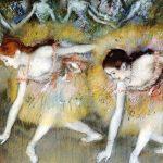 Edgar Degas Ballerine che fanno l'inchino, 1885. Colori a pastello. Collezione privata