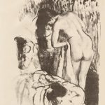 Edgar Degas. Donna nuda in piedi mentre si asciuga, 1891-1892. Litografia, pastello e raschiatura, cm 33 x 24,5. Credit: Acquisto, Mr. e Dillon regalo Mrs. Douglas 1972