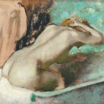 Edgar Degas. Donna seduta sul bordo della vasca con spugnature al collo, c. 1880-1895. Musée d'Orsay, Parigi