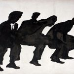 Sergio Lombardo. Piazza Navona (dai Gesti tipici), 1963. Smalto su tela