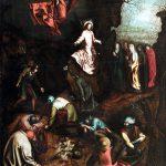 Pieter Brueghel il Vecchio e bottega. La Resurrezione, 1563 ca. Olio su tavola, cm 107x 73,8. Collezione privata, Belgio