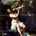 Artemisia Gentileschi. Susanna e i Vecchioni, 1649. Olio su tela, cm 205×168. Moravska Galerie, Brno