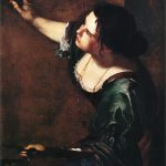 Artemisia Gentileschi. Autoritratto come allegoria della Pittura, 1638-39, Olio su tela, cm 98,6×75,2. Royal Collection, Windsor Kensington Palace, Londra