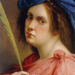 Artemisia Gentileschi. Autoritratto come martire, 1615. Olio su tavola, cm 31,7×24,8. Collezione privata