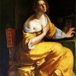 Artemisia Gentileschi. La conversione della Maddalena, 1615-16 ca. Olio su tela, cm 146,5×108. Gallerie degli Uffizi, Firenze