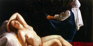 Artemisia Gentileschi. DDanae, 1612. Olio su rame, cm 40,5×52,5. Saint Louis A