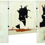 Jean-Michel Basquiat. Autoritratto, 1981 Acrilico, olio, pastello a olio e collage su tre tavole, cm 101,6 x 177,8. Mugrabi Collection