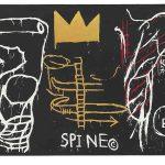Jean-Michel Basquiat. Back of the Neck, 1983 . Serigrafia a cinque colori con colorazione a mano su carta, cm 127,6 × 258,4. Mugrabi Collection
