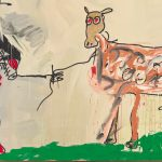 Jean-Michel Basquiat. The Field Next to the Other Road, 1981. Acrilico, smalto ad aerografo, pastello a olio, pittura metallica e inchiostro su tela, cm 221 x 401,3. Mugrabi Collection