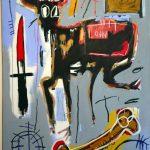 Jean-Michel Basquiat. Loin, 1982. Acrilico, pastelli a olio colorati e pastello su tela, cm 182,8 × 121,9. Mugrabi Collection