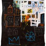 Jean-Michel Basquiat. Senza titolo, 1981. Acrilico, stick a olio e gesso su carta, cm 149,8 × 137. Mugrabi Collection