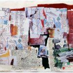 Jean-Michel Basquiat. Untitled, 1985. Pastello, guazzo e collage su carta, cm 55,9 x 76,2. Mugrabi Collection