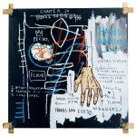 Jean-Michel Basquiat Untitled (Hand Anatomy), 1982. Acrilico, olio, stick a olio e collage su tela Senza titolo, 1981. Acrilico, stick a olio e gesso su carta, cm 149,8 × 137. Mugrabi Collection