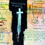 Jean-Michel Basquiat. Job Analisis [sic], 1983. Acrilico e pastello a olio su tela, cm 141,6 x 188. Mugrabi Collection