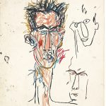 Jean-Michel Basquiat. John Lurie, 1982. Stick a olio su carta, cm 108,5 × 76,5. Mugrabi Collection