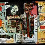 Jean-Michel Basquiat. Notary, 1983. Acrilico, pastello ad olio e collage di carta su cornice lignea, cm 180x401. Collezione Schorr c/o Tony Shafrazi Gallery, New York