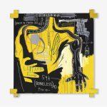 Jean-Michel Basquiat. Untitled (Braccio di Ferro), 1983. Acrilico e stick a olio su tela, cm 182,8 × 182,8. Mugrabi Collection