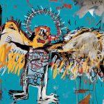 Jean-Michel Basquiat. Untitled (Fallen Angel), 1981. Acrilico e pastello grasso su tela, cm 168 x 197,5, Milano, Collezione privata