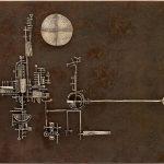 Arnaldo Pomodoro. La luna il sole la torre, 1955?. Argento e rete di ottone patinata, cm 38 x 48 x 3 (foto Dario Tettamanzi)