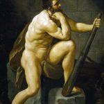 Guido Reni. Ercole dopo l'uccisione dell'Idra, 1620 ca. Olio su tela, cm 224×175. Galleria Palatina, Firenze