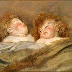 Peter Paul Rubens. Due bambini che dormono, 1612-1613 ca. Olio su tavola. cm 50,5 × 65,5. Museo Nazionale di Arte Occidentale, Tokyo