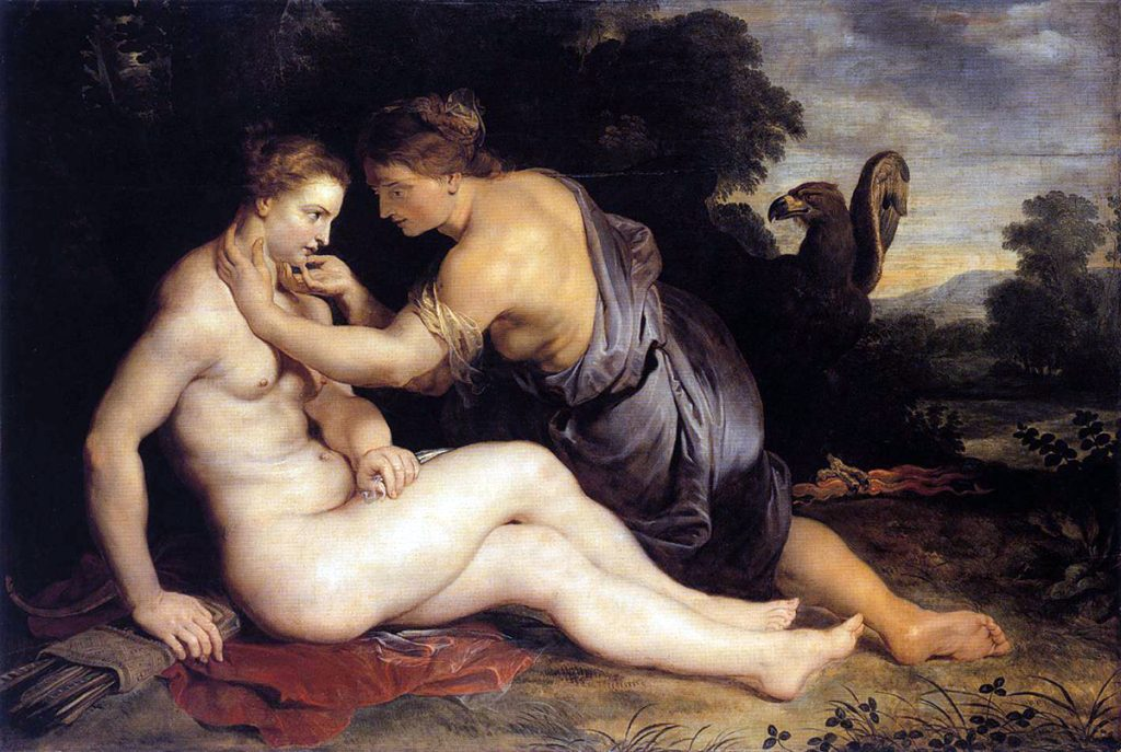Peter Paul Rubens. Jupiter and Callisto, 1611-1613. Olio su tela, cm 305 x 202. Staatliche Museen, Kassel