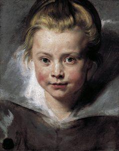 Peter Paul Rubens. Ritratto della figlia Clara Serena, 1615 – 1616. Olio su tela applicata su tavola, cm 33×26,3. Palazzo Liechtenstein, Vienna - The Princely Collections