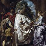 Peter Paul Rubens. San Gregorio con santa Domitilla, San Mauro e San Papiano, 1606. Olio su tela, cm 146,5×120. Gemäldegalerie, Berlino