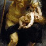 Peter Paul Rubens. Saturno che divora uno dei suoi figli, 1636 – 1638. Olio su tela, cm 182,5×87. Museo del Prado, Madrid