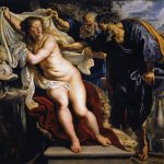 Peter Paul Rubens. Susanna e i vecchioni, 1609-1610. Olio su tavola. Real Academia de Bellas Artes de San Fernando, Madrid