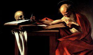 Caravaggio. San Girolamo, 1605-06. Olio su tela, cm 112×157. Galleria Borghese, Roma