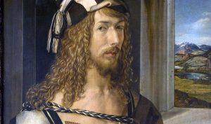 Albert Dürer. Autoritratto con guanti, 1498