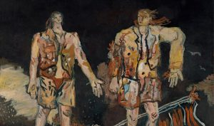 Georg Baselitz, The Great Friends, 1965. Oil on canvas, cm 98.4 x 118.1