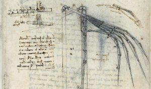 Leonardo e il volo. Studio per ali meccaniche. Veneranda Biblioteca Ambrosiana