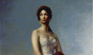 Pietro Annigoni. Ritratto di Stefania (Yvette) von Kories zu Goetzen (1958-'59). Tempera grassa su tela, cm 342 x 228
