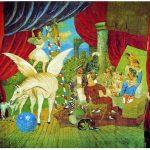 "Picasso. Sipario per il balletto ""Parade"", 1917. Tempera su tela, cm 1050 x 1640. Musée National d'Art Moderne Centre Georges Pompidou, Parigi. ©Succession Picasso, by SIAE 2017"